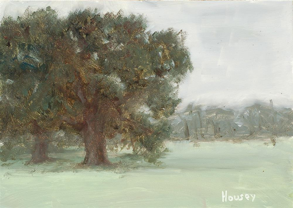 """Tree Line, Cloudy Morning"" original fine art by Bruce Housey"