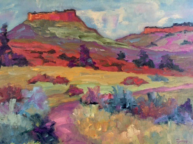 """Hall's Ranch, Colorado"" original fine art by Liz Zornes"