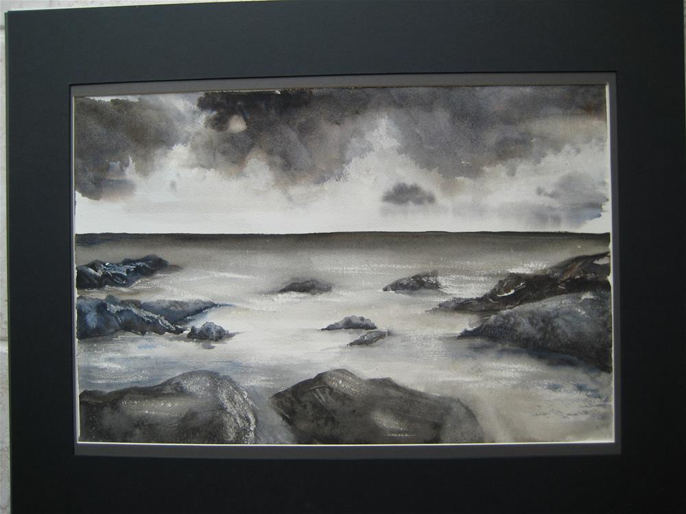 """Monochrome Seascape"" original fine art by Susan Brens"