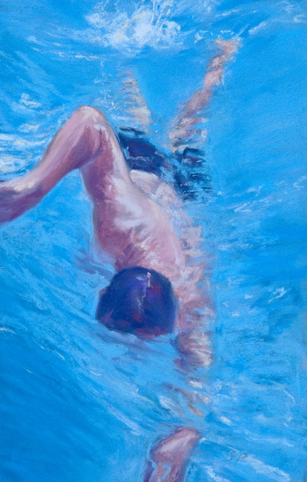 """Doing Laps"" original fine art by Sarah Peroutka"