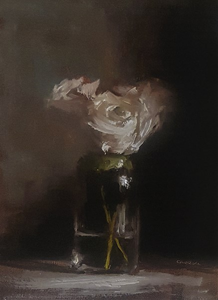 """Jar of Roses"" original fine art by Neil Carroll"