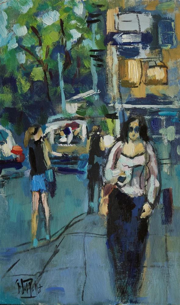 """Street Corner, New York City"" original fine art by Andre Pallat"