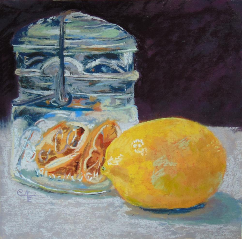 """Dried Lemons"" original fine art by Catherine Kauffman"