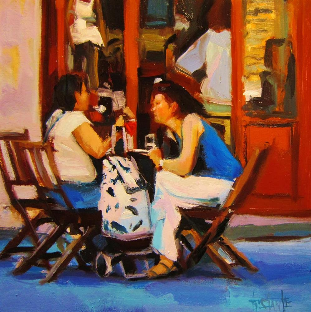 """Morning meeting"" original fine art by Víctor Tristante"
