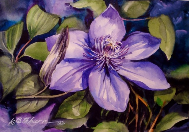 """I love to Garden"" original fine art by Kathy Los-Rathburn"