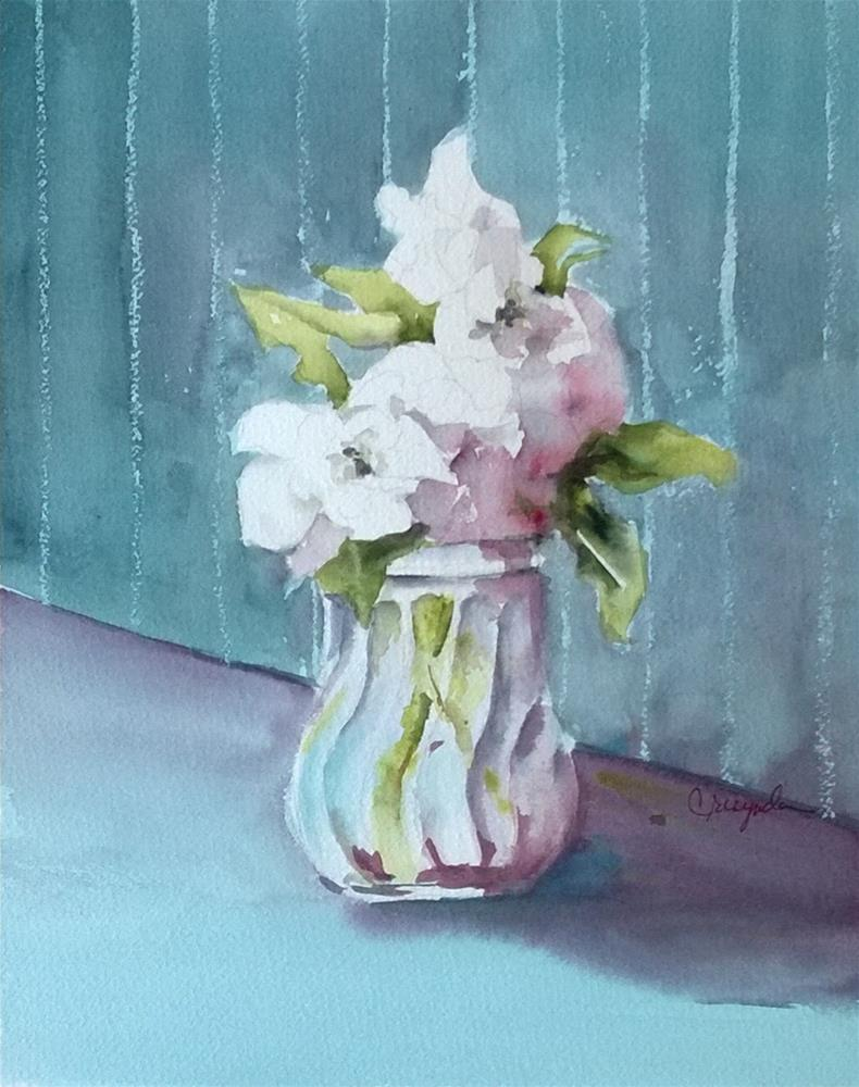 """Gardenia's Three"" original fine art by Crisynda Buss"