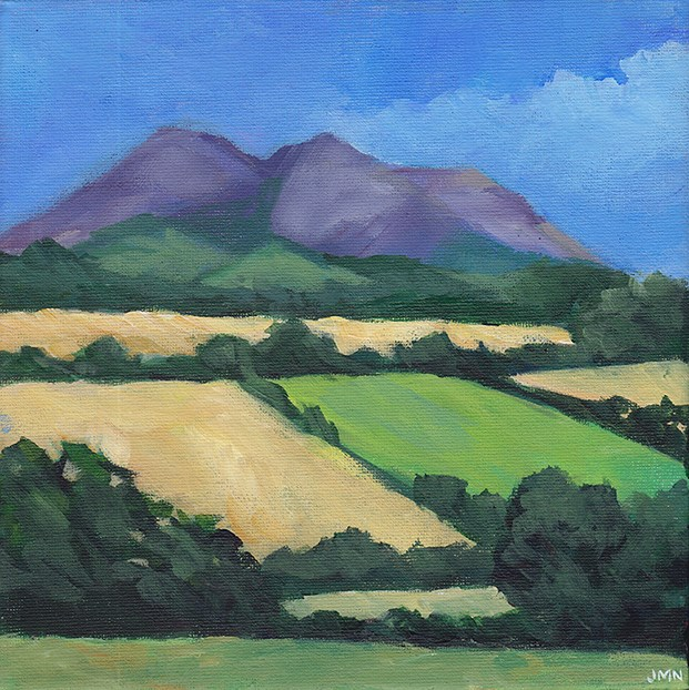 """Eildon Hills, Scotland"" original fine art by J M Needham"