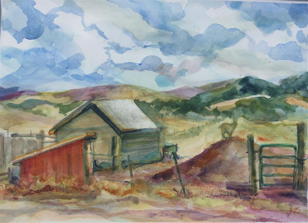 """Dorothy!s Ranch Looking East"" original fine art by jean krueger"