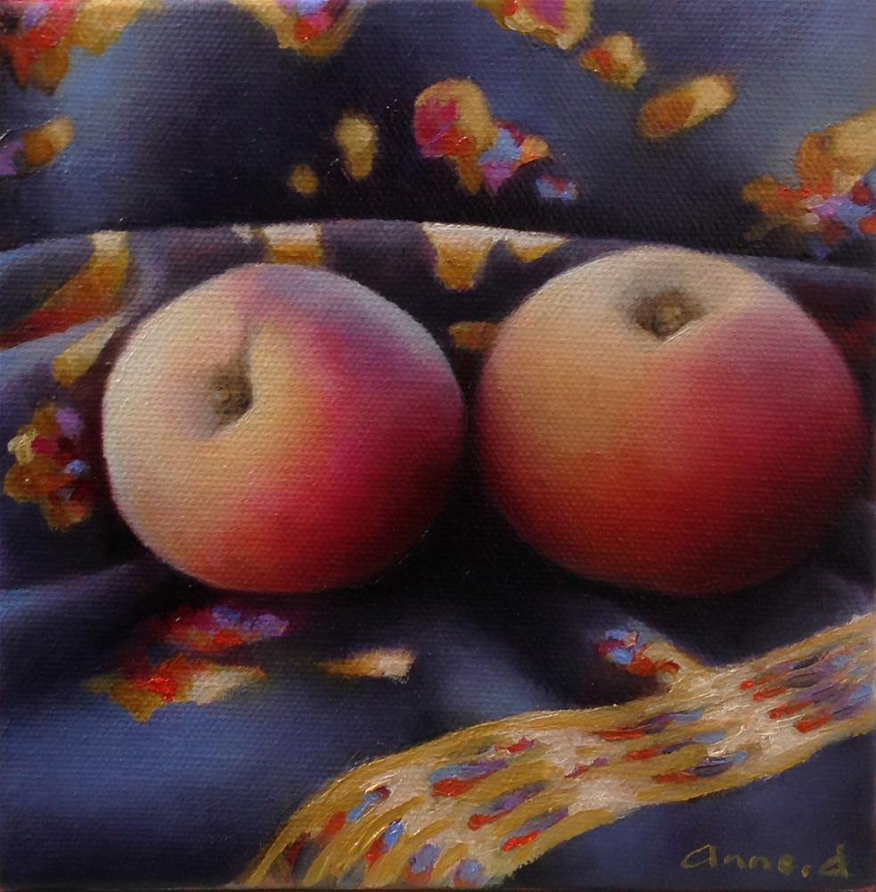 """A Couple of Royal Peaches"" original fine art by Anne Ducrot"