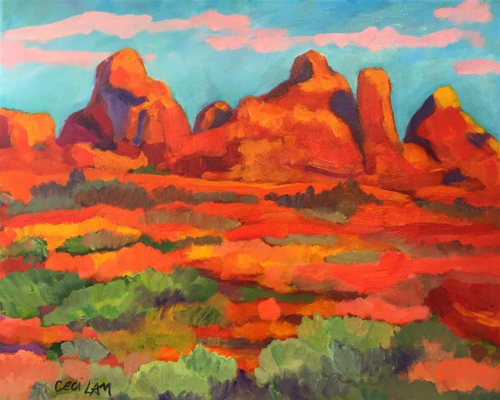 """""""Sedona Red"""" original fine art by Ceci Lam"""
