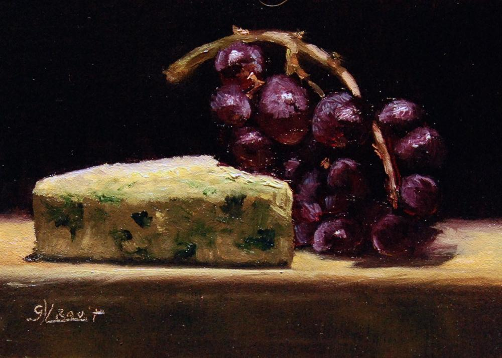 """Blue Cheese with Grapes"" original fine art by Garry Kravit"