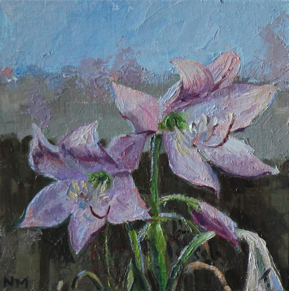 """Backyard Lilies"" original fine art by Neringa Maxwell"