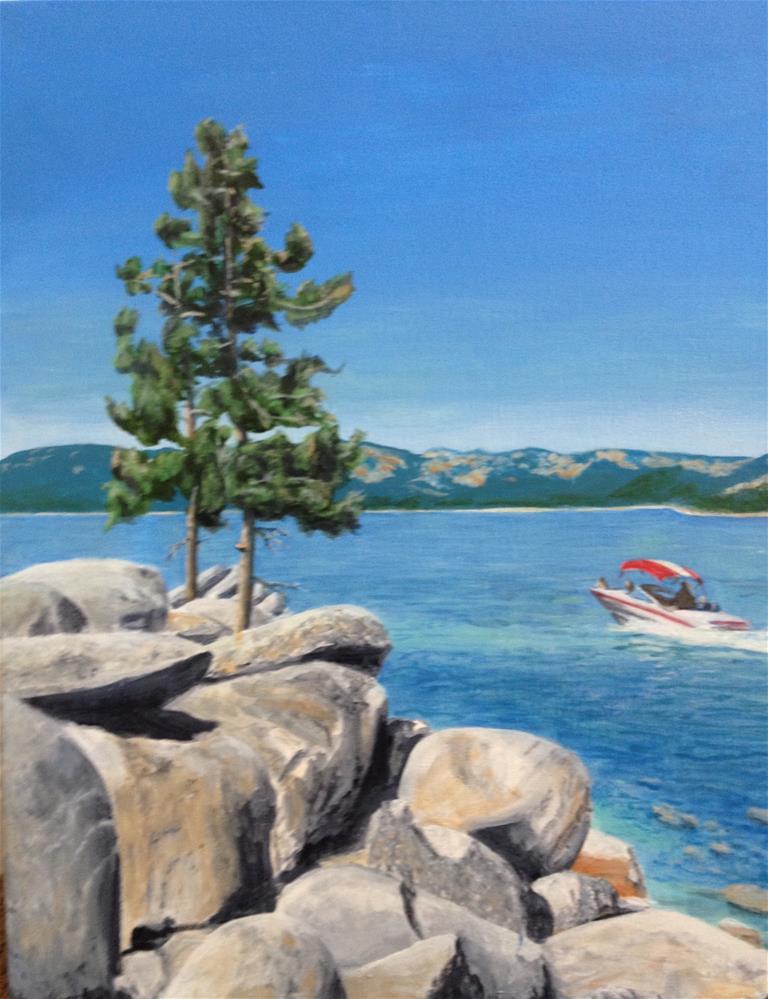 """""""A Ride on Tahoe"""" original fine art by John F McGowan"""