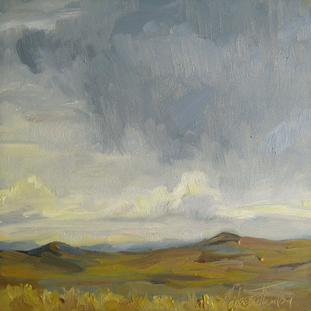 """Crumbling Clouds"" original fine art by Melanie Thompson"