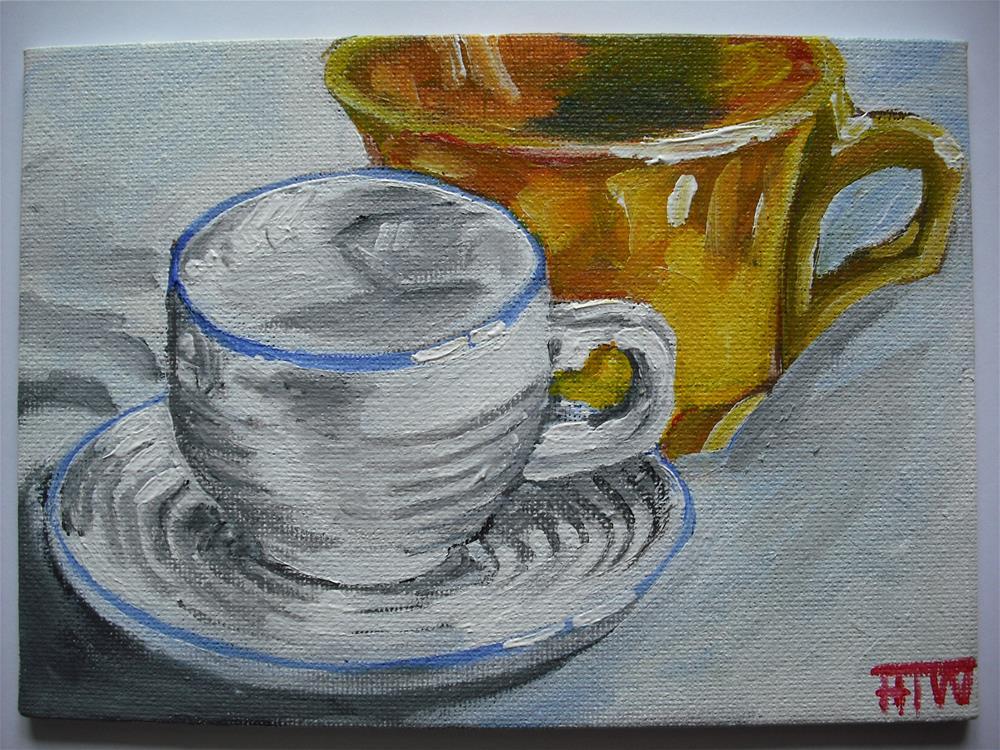 """Yellow Interuption"" original fine art by Heather Whiting"