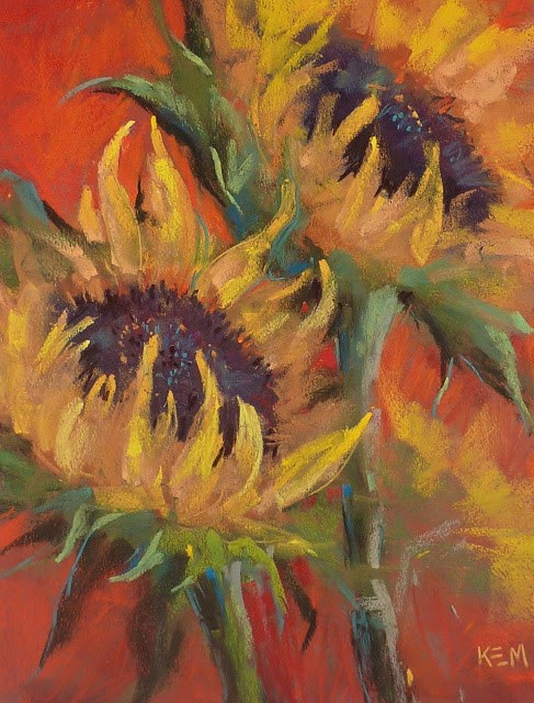 """S is for Sunflowers..My Top 3 Painting Tips for Sunflowers"" original fine art by Karen Margulis"