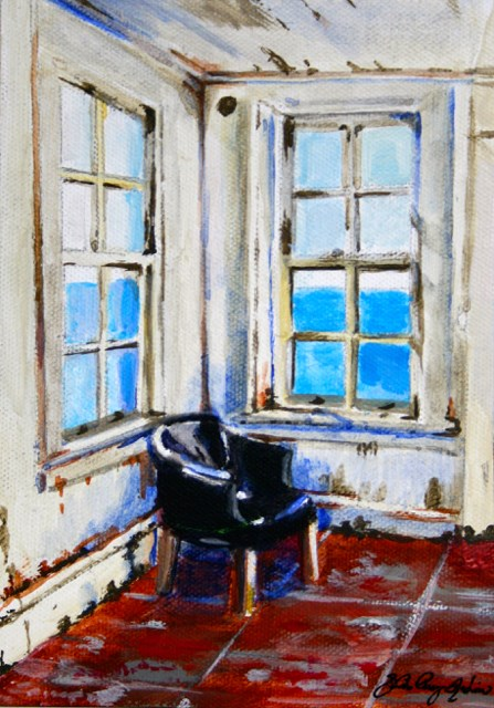 """Go Sit in the Corner"" original fine art by JoAnne Perez Robinson"