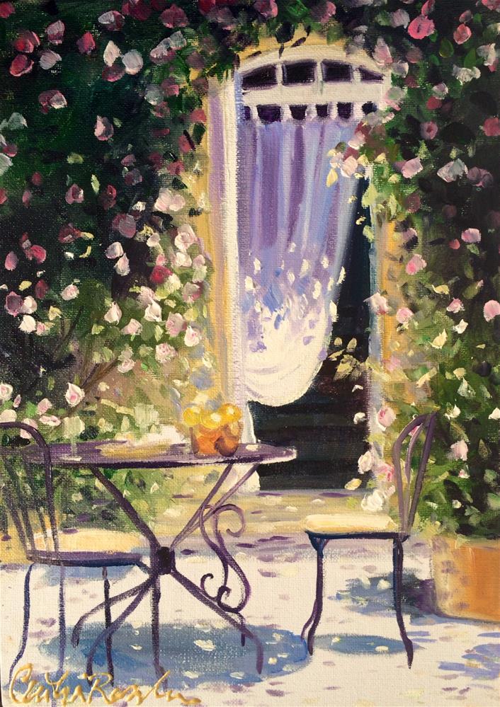 """TABLE DE JARDIN"" original fine art by Cecilia Rosslee"