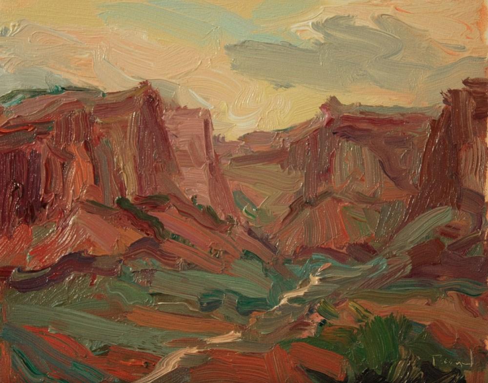 """Canyonlands Shafer Trail"" original fine art by Kathryn Townsend"