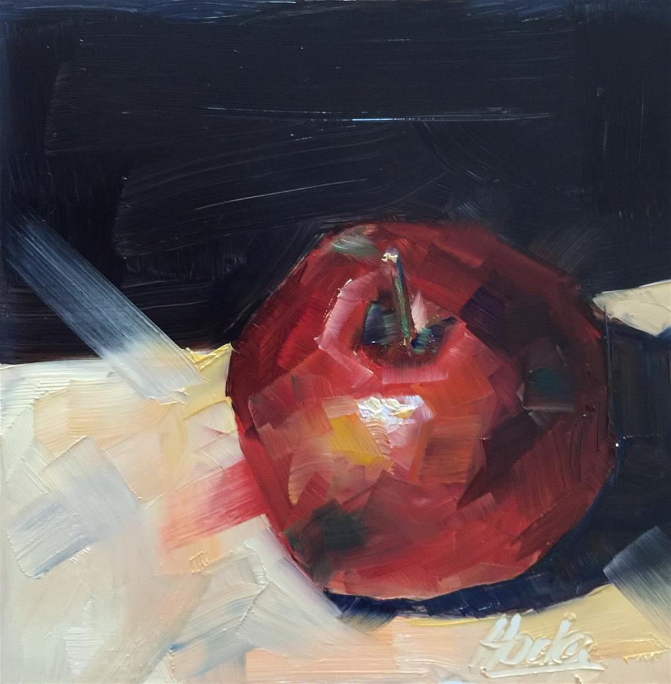 """An Apple a Day"" original fine art by Hoda Nicholas"