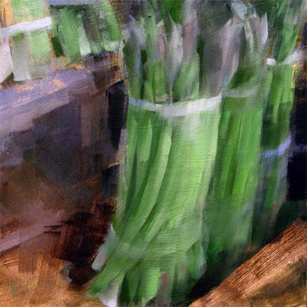 """Asparagus Spears (no.87)"" original fine art by Michael William"