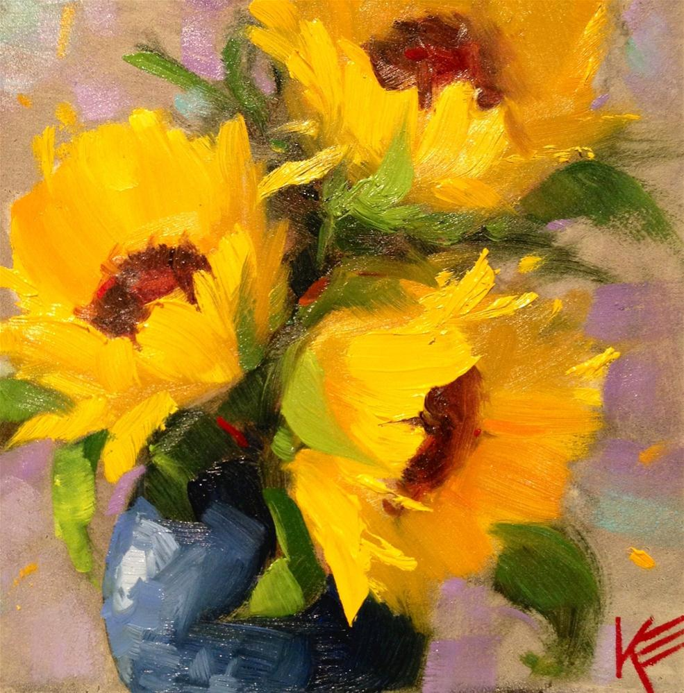 """Sunshine Promise"" original fine art by Krista Eaton"