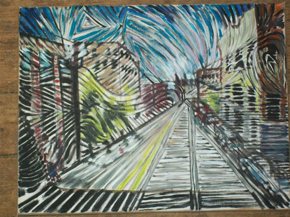 """Downtown Worcester MA an abstraction"" original fine art by tara stephanos"