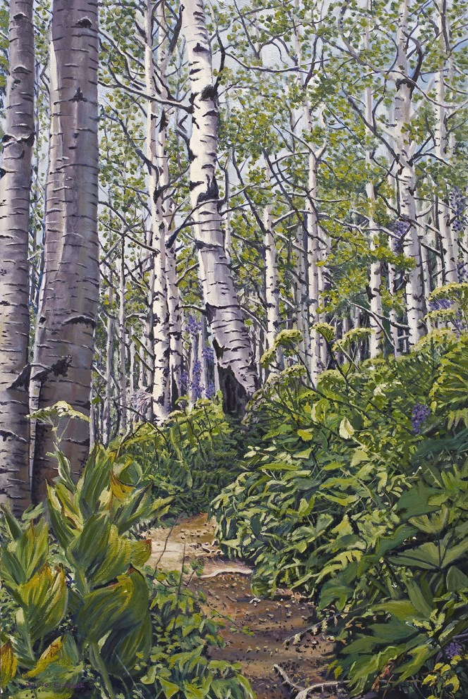 """401 Trail Crested Butte Colorado"" original fine art by Daniel Fishback"