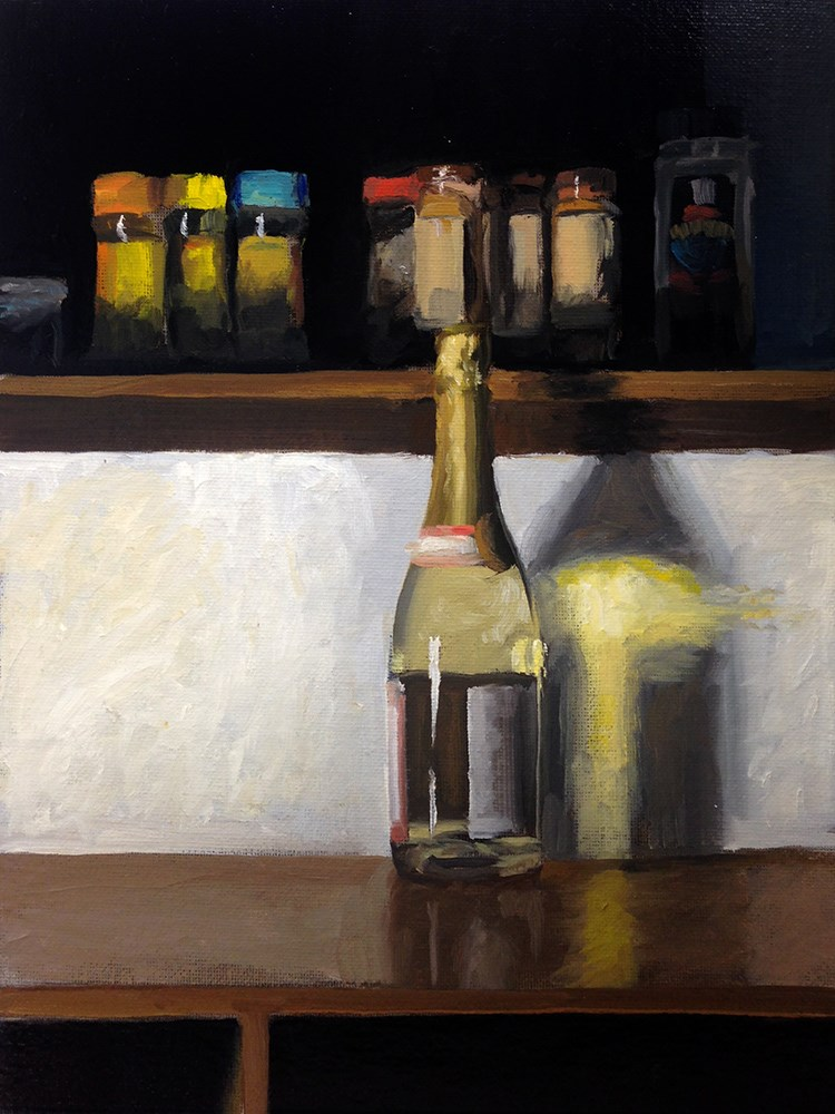 """""""Wine Light and Spices"""" original fine art by Chris Beaven"""