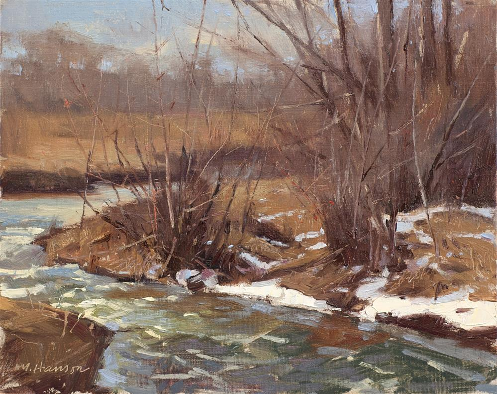 """2-27-2 Creek Bend"" original fine art by Marc Hanson"