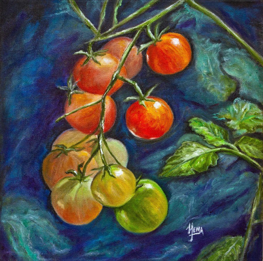 """Tomato Dreams"" original fine art by Hema Sukumar"