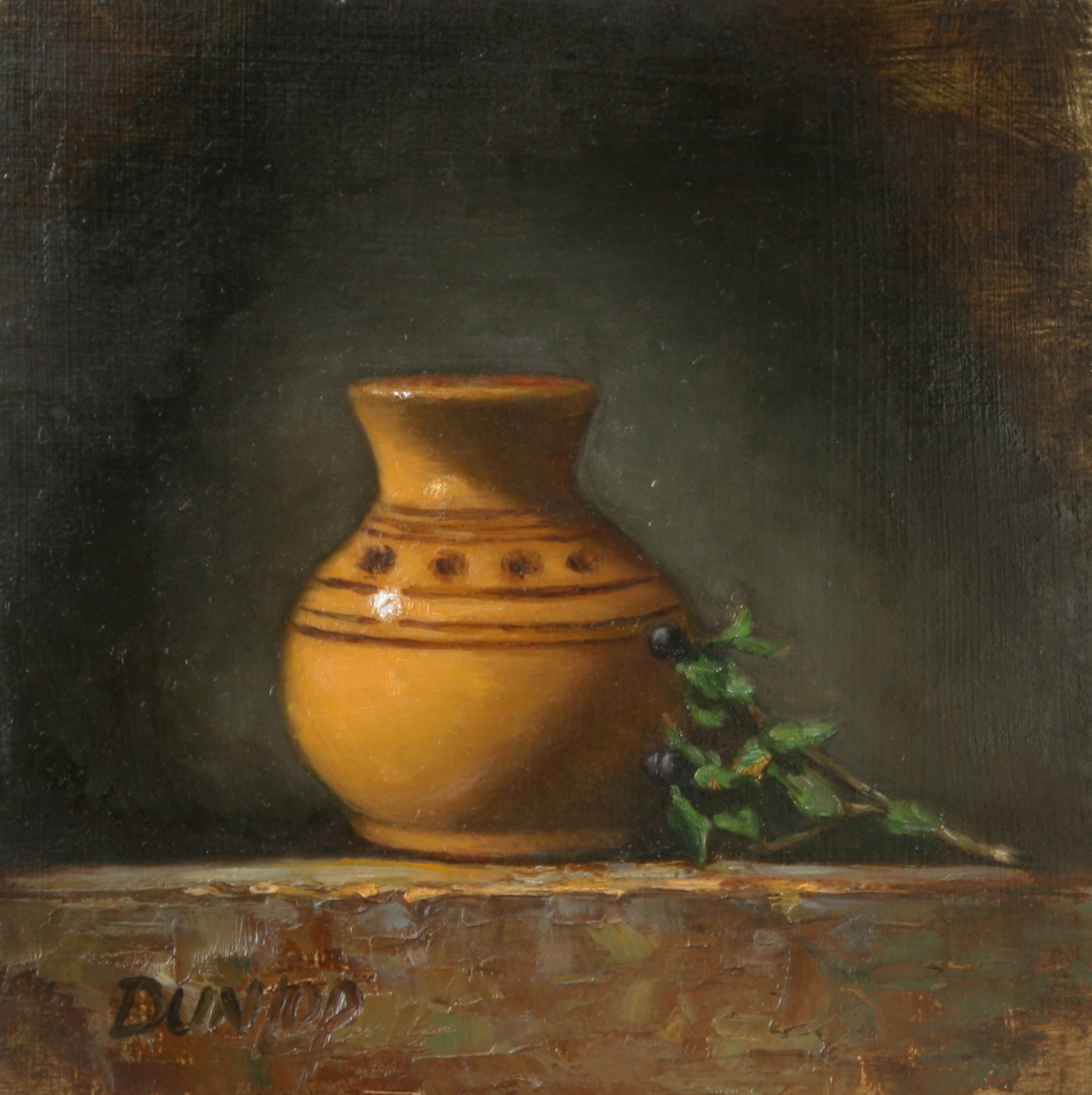 """Ochre Vase"" original fine art by Bobbi Dunlop"