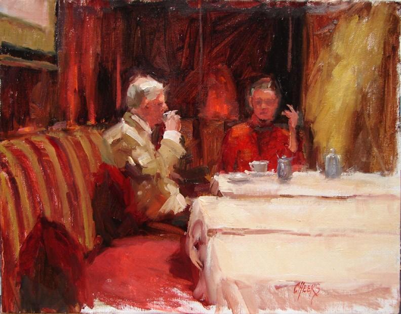 """""""Tete et Tete"""" original fine art by Robin Cheers"""