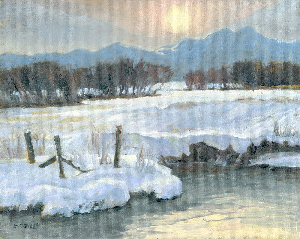 """Winter Sun"" original fine art by Kath Reilly"