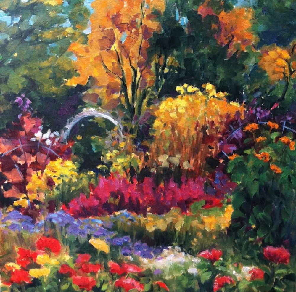 """Song Garden, New Hampshire"" original fine art by Lynne Schulte"