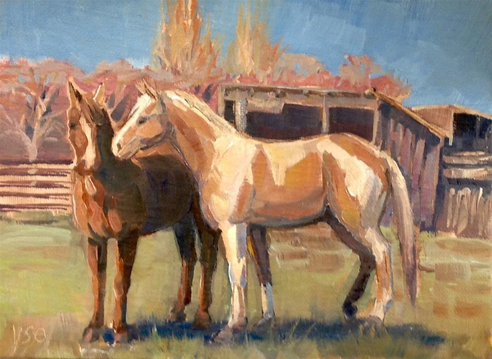 """""""Horse whisperers"""" original fine art by Valerie Orlemann"""