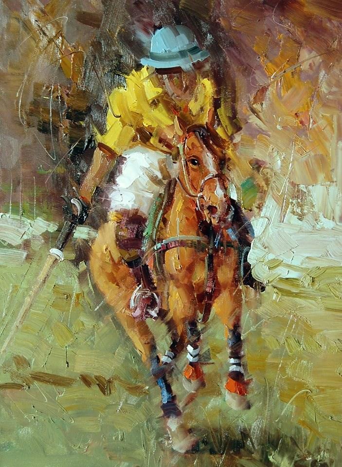 """Polo"" original fine art by Mostafa Keyhani"