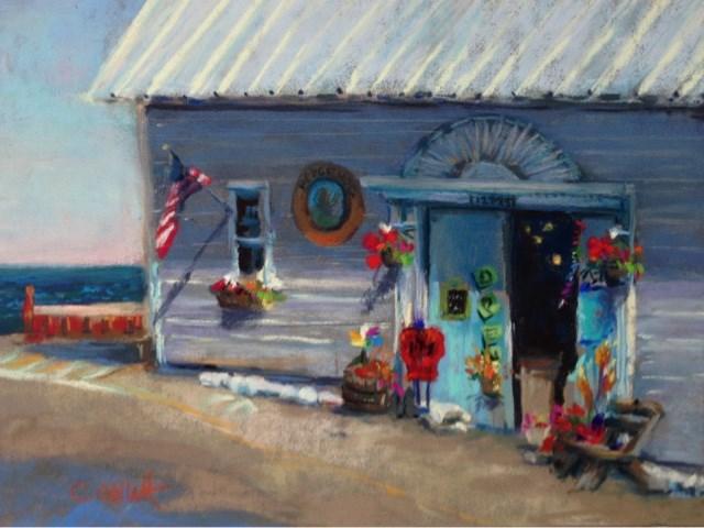 """Hedgehog Gift Shop"" original fine art by Cindy Gillett"