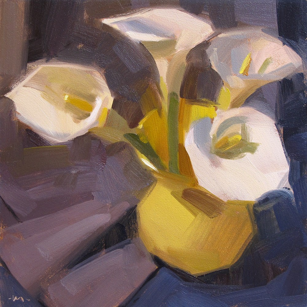 """Lilies of the Vase"" original fine art by Carol Marine"