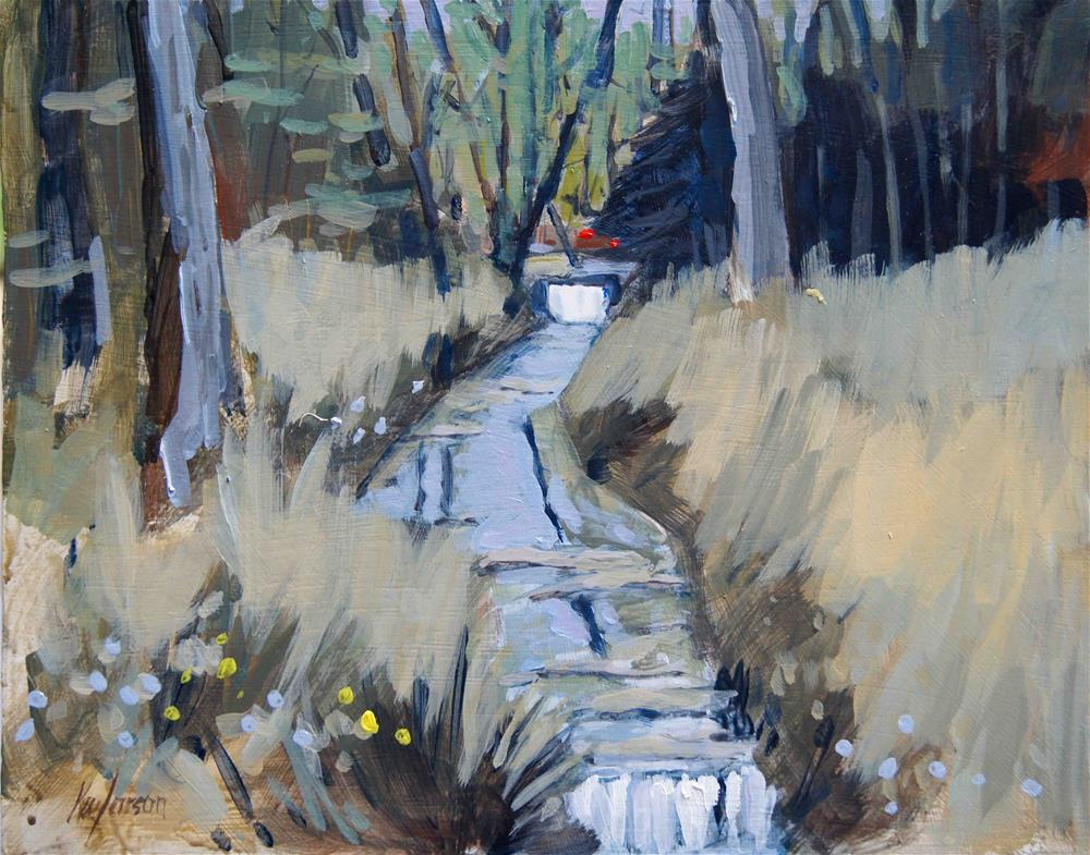 """Two Petite Falls"" original fine art by Kevin Larson"