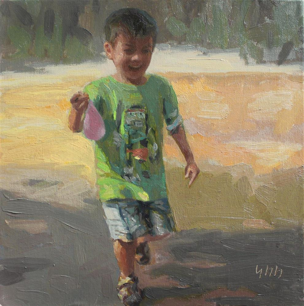 """Water Balloon"" original fine art by Yuehua He"
