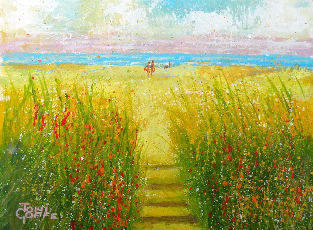 """Beach Path"" original fine art by Toni Goffe"
