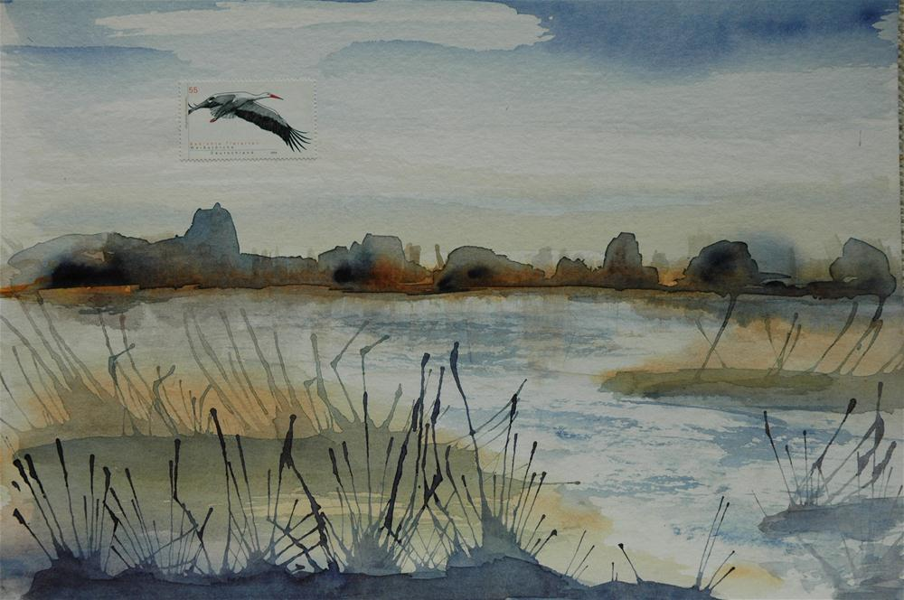 """Kremmener See (Lake Kremmen)"" original fine art by Ulrike Schmidt"