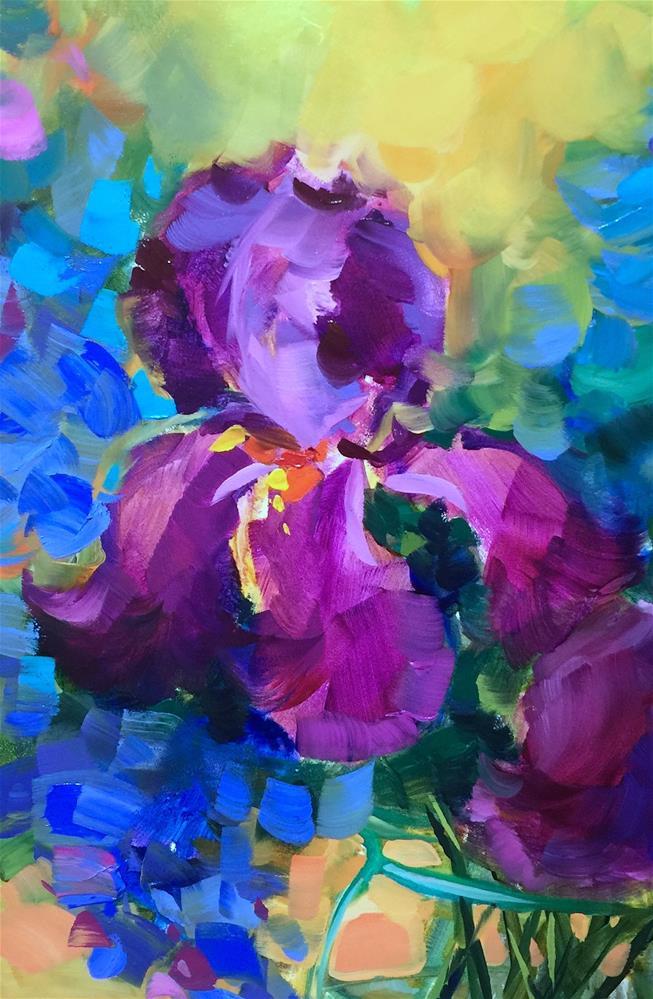 """Happy Dance Iris - Nancy Medina Art Videos and Classes"" original fine art by Nancy Medina"