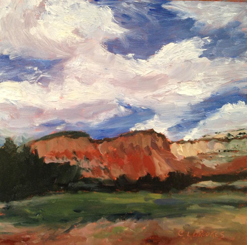 """Red Cliffs at Ghost Ranch"" original fine art by Claudia L Brookes"