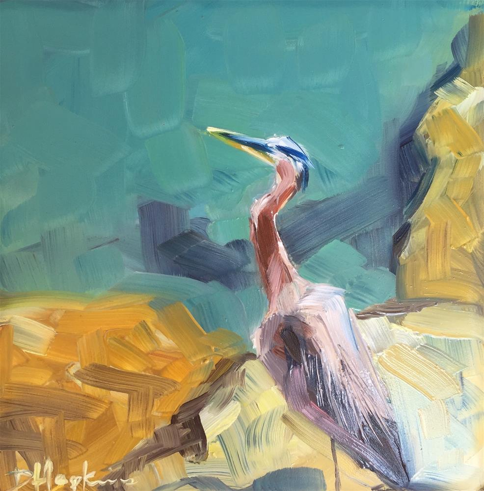 """""""Looking Out"""" original fine art by Denise Hopkins"""