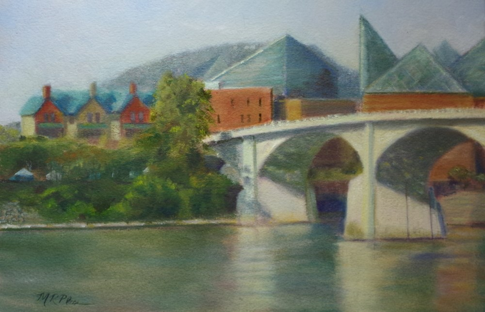 """Market Street Bridge"" original fine art by Marilyn R. Place"