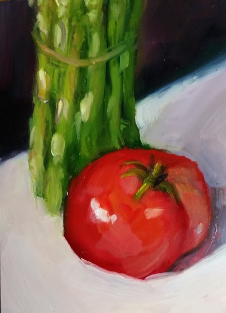 """Asparagus, Tomato, Delight"" original fine art by Wendy Starita"