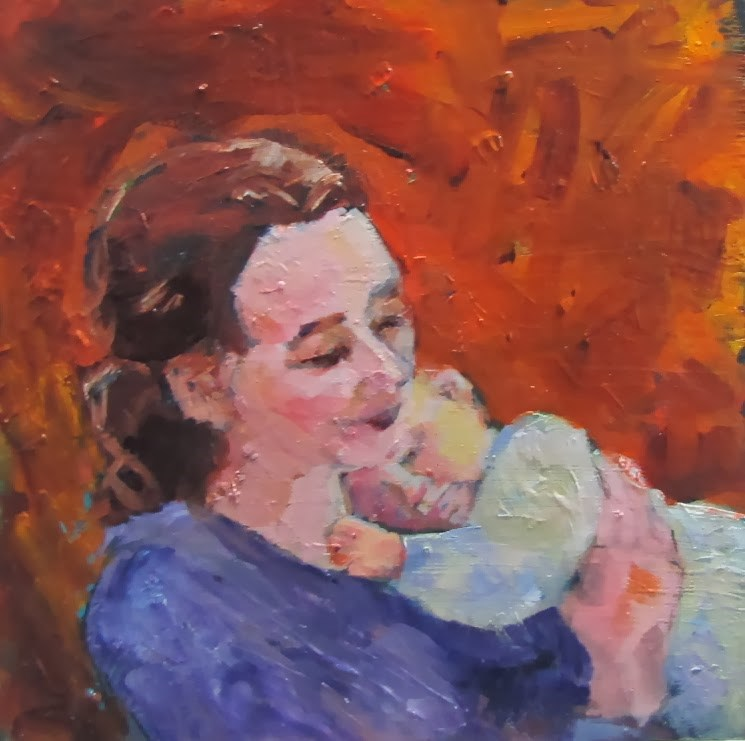 """No Baby yet!"" original fine art by Christine Holzschuh"