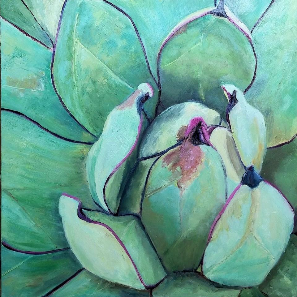 """""""Agave Blue"""" original fine art by Patricia Matranga"""